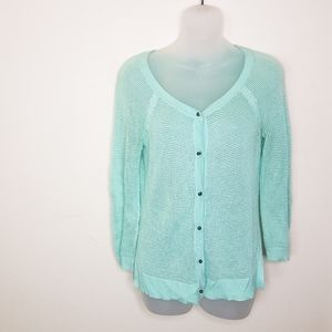 American Eagle Outfitters Green Button Cardigan